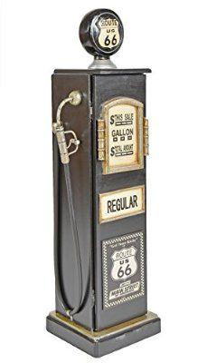 Estante estantería cómoda armario CD DVD estilo retro surtidor de gasolina gasolinera bomba negro