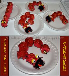 """Egg Carton Snakes - from Crafts -N- Things for Children ("""",)"""