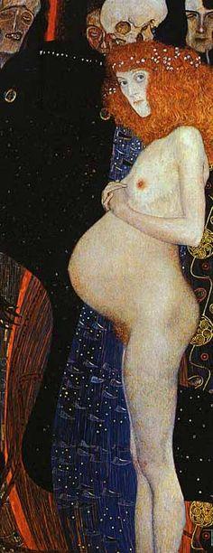 Gustav klimt Title: Hope I (1903) Oil on canvas 189.2 x 67 cm