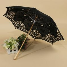 Handmade Cotton Parasol Lace Umbrella Party Wedding Bridal Decoration