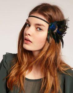Pretty Headband Hair Style Trends-feather Boho Hairstyles, Headband Hairstyles, Hair Styles 2014, Feather Headband, Diy Hair Accessories, Haircuts For Men, Hair Trends, Hair Cuts, Hair Color