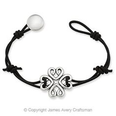 Bountiful Hearts Leather Bracelet from James Avery