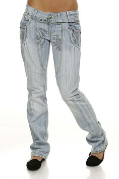 Embroidered Print Denim Jeans @ Everything5pounds.com