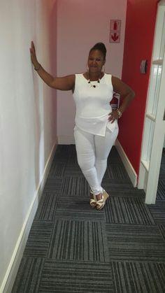 All white plus size