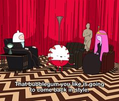Adventure Time meets Twin Peaks // lolol for real though this scene has stood out in my mind preserved forever as the creepiest i've ever seen