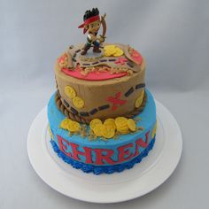 Jake and the Neverland Pirates Cake - Cake of cakes!