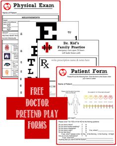 FREE! Doctor Pretend Play Kit