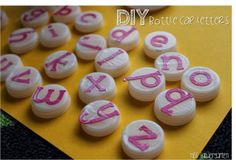Miss Kindergarten: DIY bottle cap letters