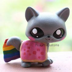lps customs | Nyan Cat LPS custom by pia-chu