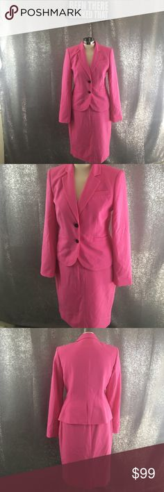 Calvin Klein Barbie pink skirt suit set Excellent condition, like new. Calvin Klein Jackets & Coats Blazers