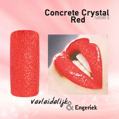 Nail Polish Concrete Crystal Red Magnetic Nail Design
