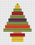Fat Cat Cross Stitch - Easy Peasy - Christmas Tree -- so simple and cute. Many other patterns 6 pounds