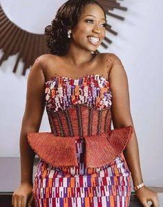 Best African Dresses, Latest African Fashion Dresses, African Print Fashion, African Attire, Ghana Traditional Wedding, Western Wedding Dresses, Wedding Attire, Wedding Ring, Dream Wedding