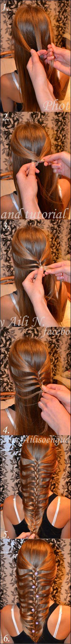 Mermaid Braid Tutorial, hairstyles, back to school