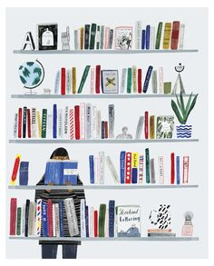 There's more to life than books you know but not much more. Illustration by Grace Easton