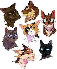 brokenstar, tigerstar, ashfur, mapleshade, hawkfrost, sol, and scourge