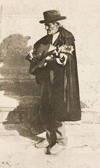 A Blind Musician - Granada ANNAN, JAMES CRAIG, b.1864-1946 Camera Work XLIV, 1914  Photogravure