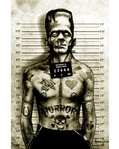 Matte Poster 12X18 - Tattooed Monster