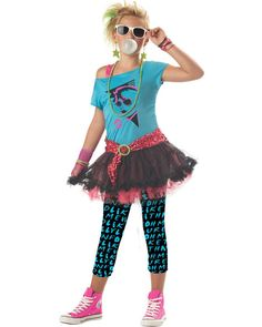 1980s Valley Party Girls Costume