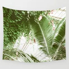 Tropical Palm Leaves Botanical Plants Wall Tapestry