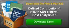 Helpful defined contribution and health care reform cost analysis kit. Five free downloads @Zane Benefits #smallbiz #health #insurance