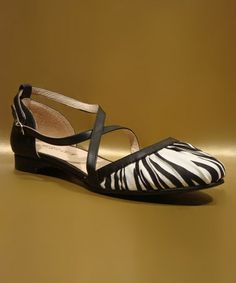 Take a look at this Zebra Flower Flat by Chelsea Crew on #zulily today!   Love, love, love these.