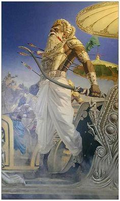 Mahamahim Bhishma is hurt Atlantis, Mythological Characters, India Art, Epic Art, Hindu Deities, Krishna Art, God Pictures, Indian Gods, Indian Paintings