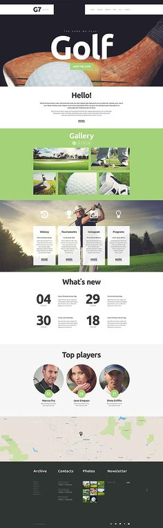 Golf Club #website #template. #themes #business #responsive