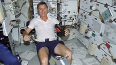 Astronauts share workout tips with Olympian--from Space