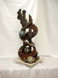 Fitting things into multiple categories like a boss. Its a chocolate sculpture ^_^