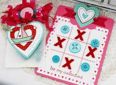 Tremendous Treats: Valentine Revisited - Valentine Tic-Tac-Toe by Melissa Phillips for Papertrey Ink (February 2013)