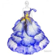 Grace Ciao Makes Fashion Sketches with Flowers