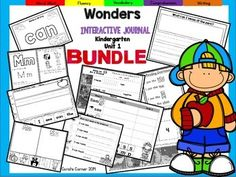 Coral's Corner has heard your feedback and is happy to present an Interactive Journal MEGA BUNDLE for Kindergarten McGraw Hill Wonders Unit 1!This 47 page Kindergarten interactive journal is aligned to Common Core and to the McGraw Hill Wonders series for Unit 1.