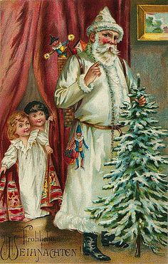 https://flic.kr/p/7iMU2Y | Vintage Christmas/Santa Claus Postcard | Free to use in your Art only, not for sale on a Collage Sheet or a CD