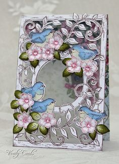 Birds and Blooms acetate card by Liz Walker