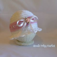 Crochet Easter Hat for Baby Girls  Easter Baby by stewiecakes