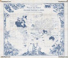 Map of the British Empire, 1886