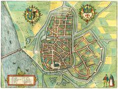 Antique map of Zutphen by Braun & Hogenberg | Sanderus Antique Maps