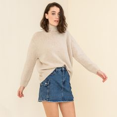 JEAN SKIRT WITH SIDE POCKETS #mys19