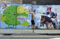 Charge, London  The occasional warrior  #streetphotography #streetart