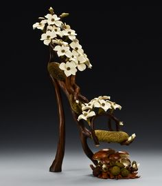 """Dogwood Branch and Moss Shoe: Denise Nielsen and George Worthington """"Walnut Branches with Holly Ends, Poplar Moss with Bloodwood Tips, Holly and Poplar Flowers, Holly and Poplar Buds, Holly and Madrone Mushrooms"""" (Source: mordmardok) Crazy Shoes, Me Too Shoes, Weird Shoes, Flower Shoes, Ugly Shoes, Shoe Art, Art Shoes, Philadelphia Museum Of Art, Unique Shoes"""
