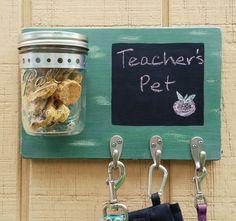 Wood Dog Leash-Mason Jar Treat by Love4PawsCafe on Etsy