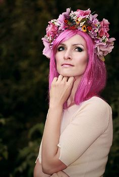 Sohemi_art / Kvetinová parta Flower Headbands, Crown, Nails, Wedding, Fashion, Finger Nails, Valentines Day Weddings, Moda, Corona