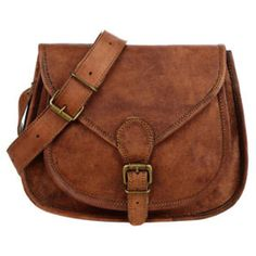 Handmade Leather Saddle Bag in Brown ($64) ❤ liked on Polyvore featuring bags, handbags, shoulder bags, leather man bags, leather crossbody purse, leather shoulder bag, hand bags and over the shoulder bags