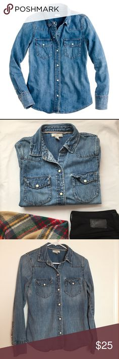 J. Crew Denim shirt Please see other listing for details J. Crew Tops Button Down Shirts