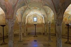 Crypt of the frescoes, the century, the Basilica of Aquileia Hvac Repair, Houses Of The Holy, Northern Italy, Fresco, Taj Mahal, Cathedral, Architecture, Painting, Castles
