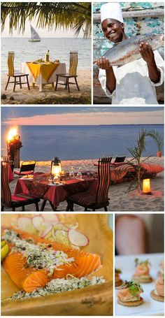 Food on an African safari or Indian Ocean island is prepared by top chefs & uses fresh local ingredients for a delicious fine-dining menu. Fine Dining Menu, Heritage Hotel, African Safari, Africa Travel, Eating Well, Luxury Travel, Hotels, Table Decorations, Adventure
