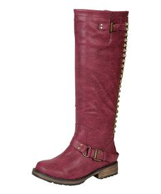 This Berry Trooper Stud Boot by Breckelle's is perfect! #zulilyfinds