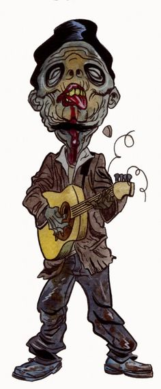 zombie playing guitar