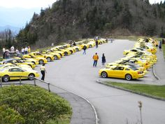 April 2011 - Great Smoky Mtns Park w/Yellow Mustang Registry...again, only half the cars in attendance.